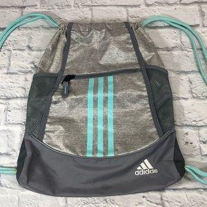 Adidas Drawstring backpack bag  gray/teal